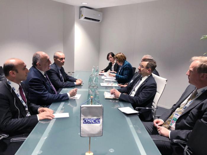 Elmar Mammadyarov discute du Karabakh avecle secrétaire général de l
