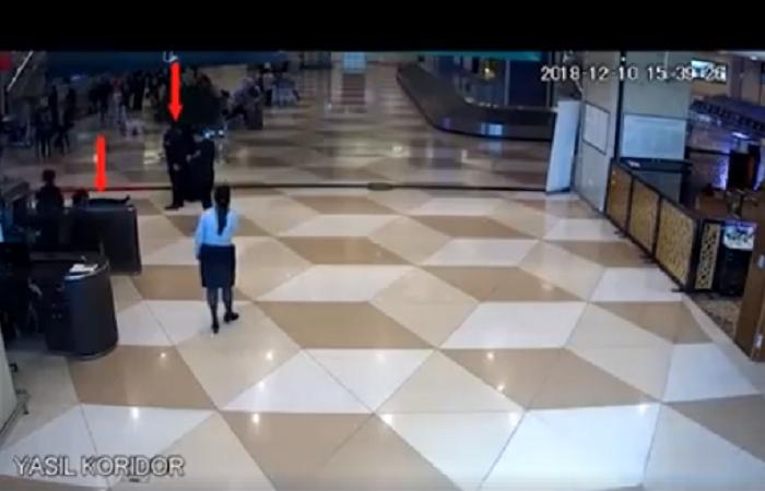 Bakı aeroportunda film kimi olay - VİDEO