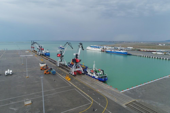 Container transshipment at Baku port increases significantly