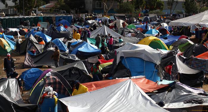 Situación alimentaria mejora en campamento de migrantes en frontera México-EEUU