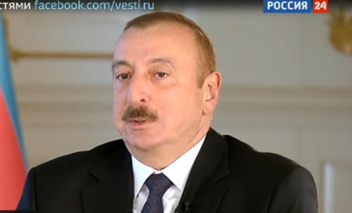 Prezidentin Rusiya telekanalına müsahibəsi - VİDEO