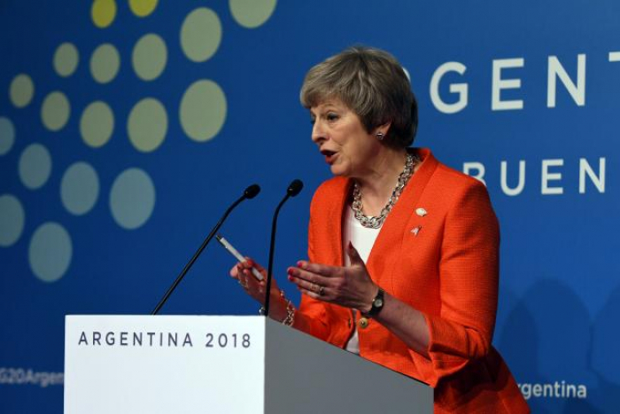 Hoping to win Brexit support, PM May says world leaders ready for trade