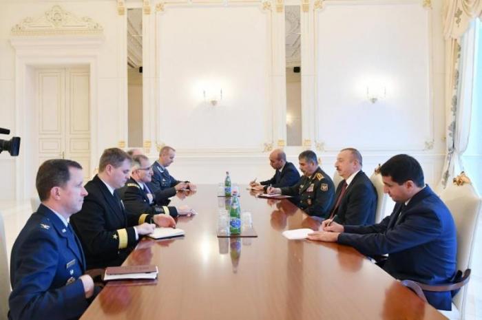 Prezident NATO-nun Baş komandanını qəbul edib