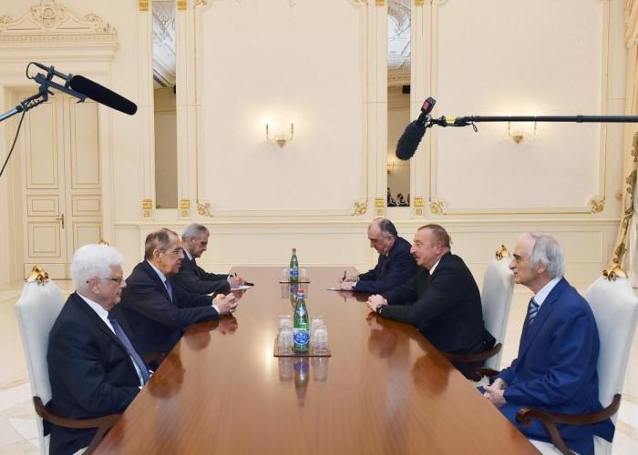 Azerbaijani President receives Russian FM - UPDATED