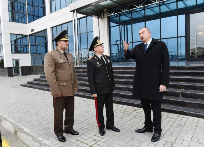 President Aliyev attends inauguration of sports & health club of Emergency Situations Ministry - PHOTOS