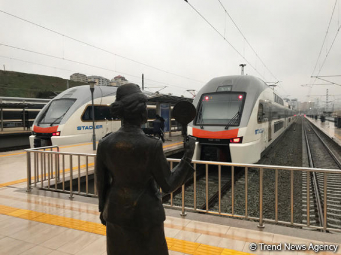 Baku-Ganja-Baku express train departs from Baku for the first time