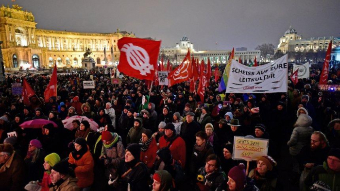 Some 17,000 people took part in anti-government rally in Vienna