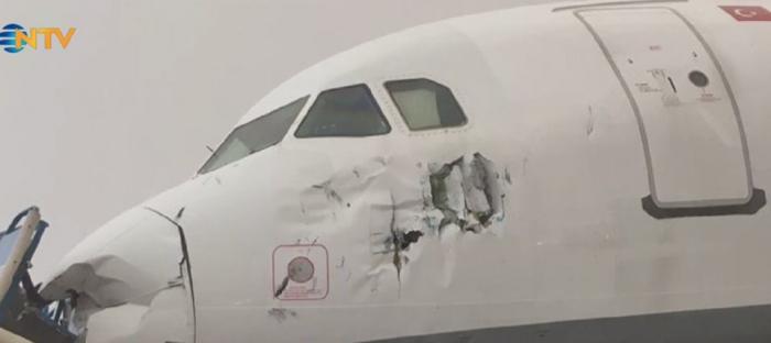 Qasırğa aeroportda fəsadlar törətdi, 12 nəfər yaralandı - FOTOLAR