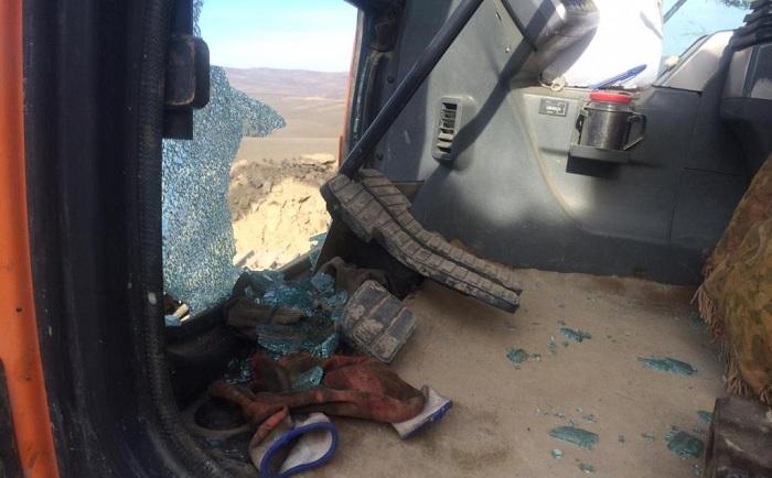 Eine weitere armenische Provokation in Gazakh  -Bagger abgefeuert(Fotos)