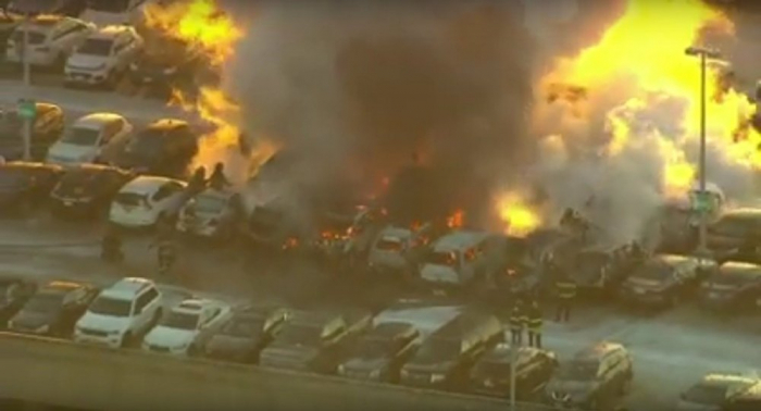 Insane fires destroy cars at Newark Airport, hit factory in New Jersey