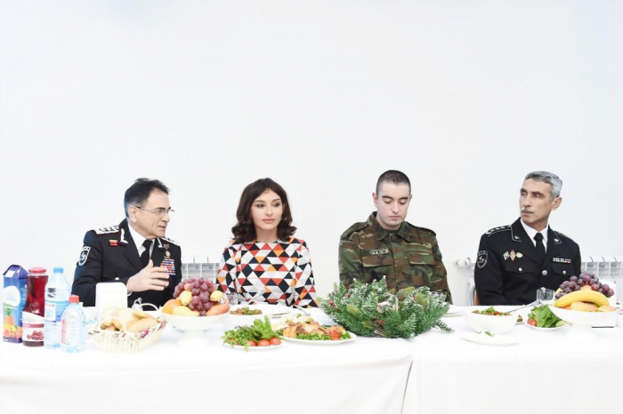 First Vice-President Mehriban Aliyeva attends holiday event at military unit of State Security Service