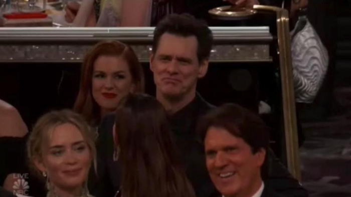 Jim Carrey 'steals show' at Golden Globes