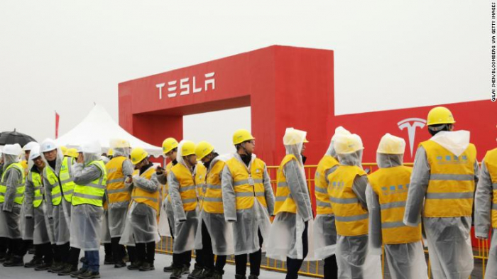 Tesla starts building its huge Shanghai factory to make cars for China