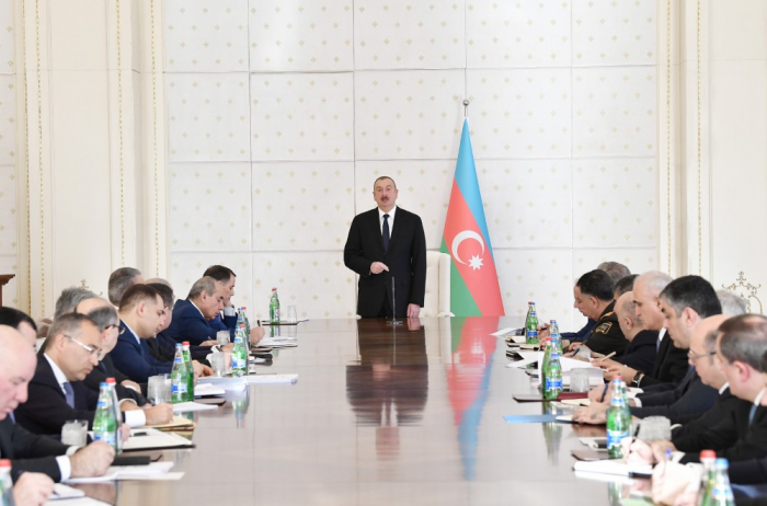 President Ilham Aliyev chairs meeting of Cabinet of Ministers