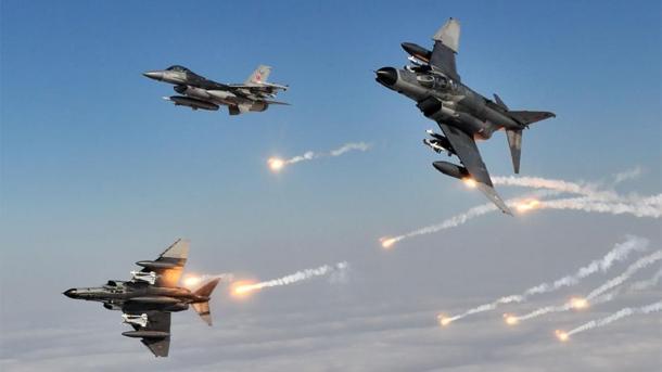 Luftoperation auf Stellungen der PKK