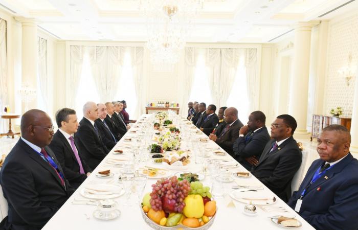 Les présidents azerbaïdjanais et zimbabwéenont déjeuné ensemble -   PHOTOS