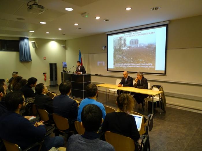 Une conférence consacrée aux évènements du 20 Janvier à l'Université de Strasbourg -   PHOTOS