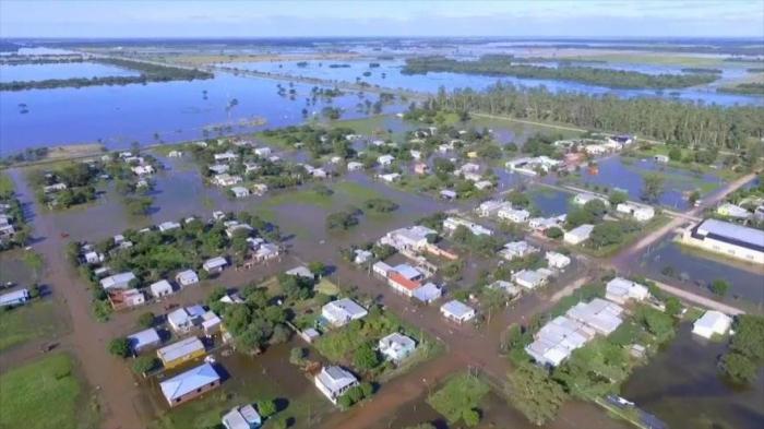 Cuatro muertos y 3500 evacuados por inundaciones en Argentina