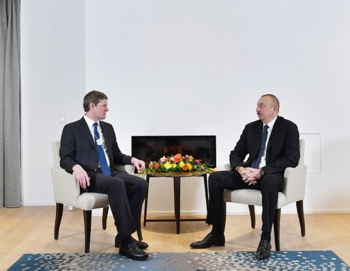 İlham Əliyev Davosda görüşlər keçirdi - FOTOLAR (Yenilənib)