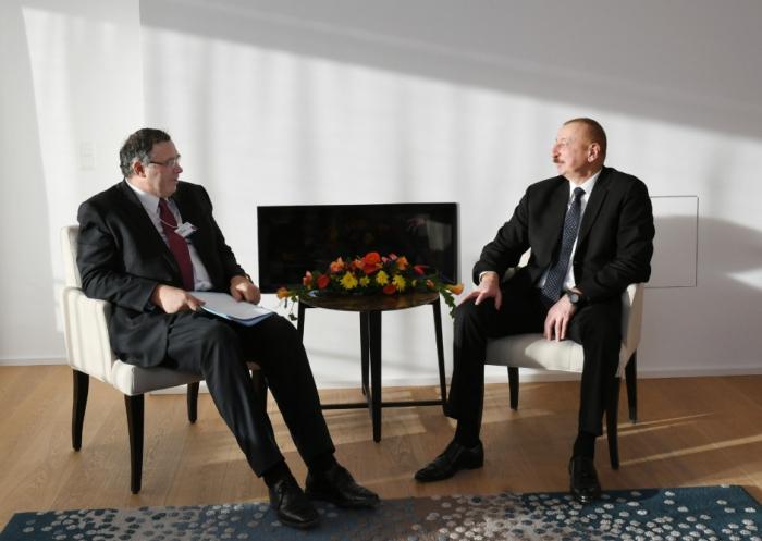 Entretien du président azerbaïdjanais avec le PDG du groupe Total