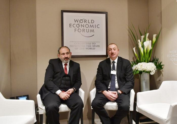 Azerbaijani President Ilham Aliyev,Armenian PM Pashinyan hold informal meeting in Davos