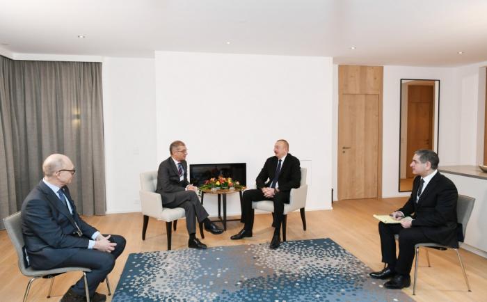 İlham Əliyev Davosda görüşlər keçirib - FOTOLAR (Yenilənib)