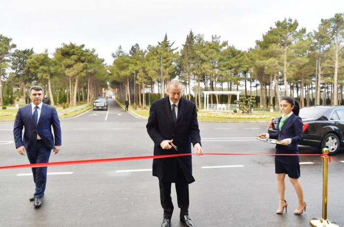 Prezident Pirşağıda açılış mərasimində - FOTOLAR (Yenilənib)