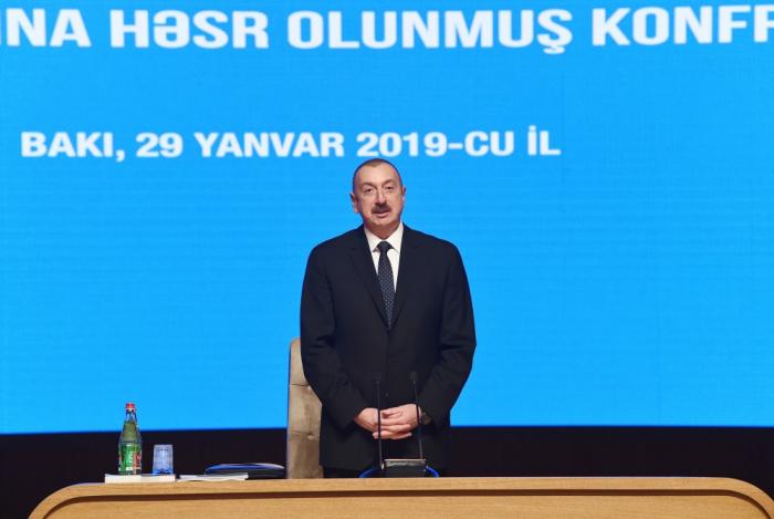 """""""Xalq əmin-amanlıq şəraitində yaşayır"""" - İlham Əliyev"""