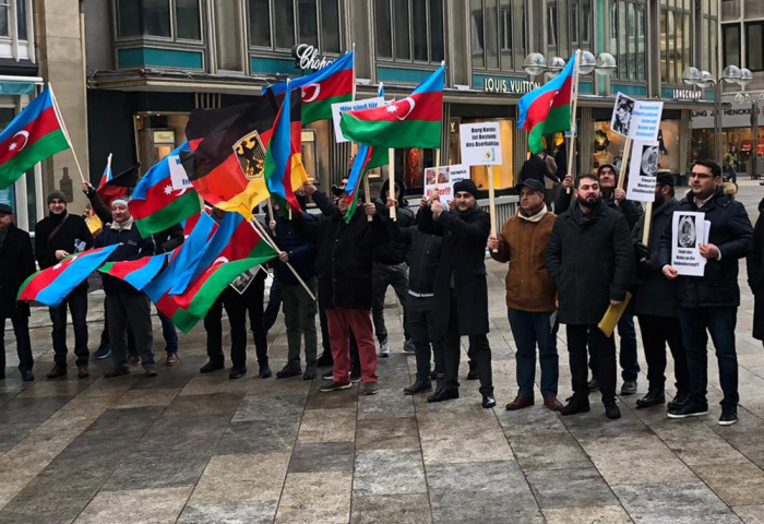 Azerbaijanis living in Germany staged protest rally-PHOTOS