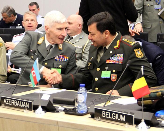 Nəcməddin Sadıkov NATO-nun toplantısında - FOTOLAR