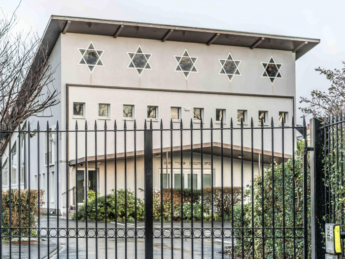 Vandals paint swastika on Dublin synagogue