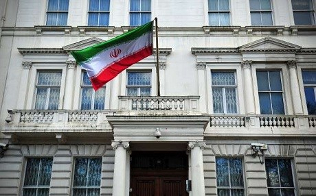 Dutch police arrest 4 protesters for attacking Iran embassy