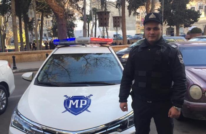 Bakıda polis cinayətkarı hadisə yerində zərərsizləşdirdi - FOTO