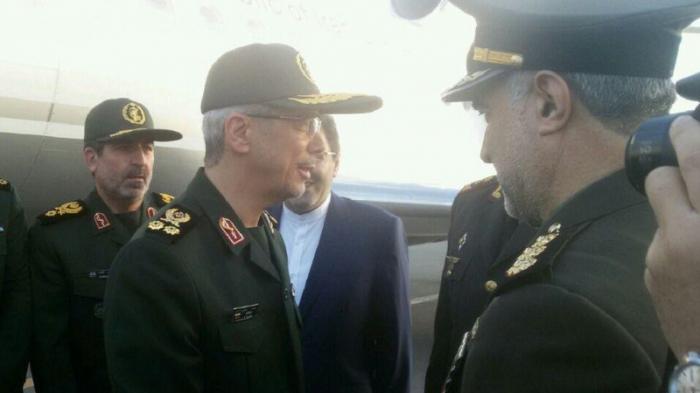 Le chef d'état-major des forces armées iraniennes est arrivé à Bakou