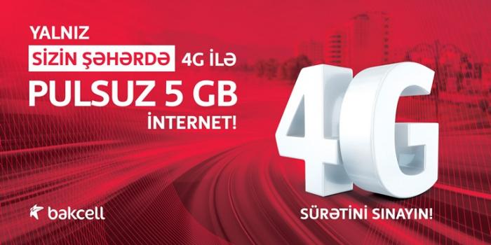6 bölgənin sakinlərinə 5 GB pulsuz internet!