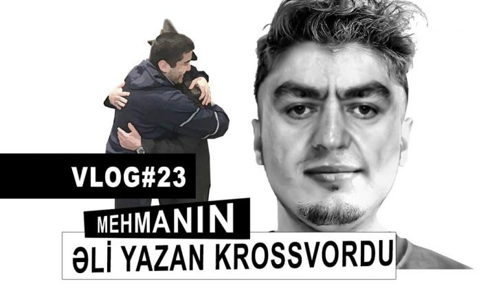 Mehmanın Əli yazan krossvordu - VİDEOBLOQ