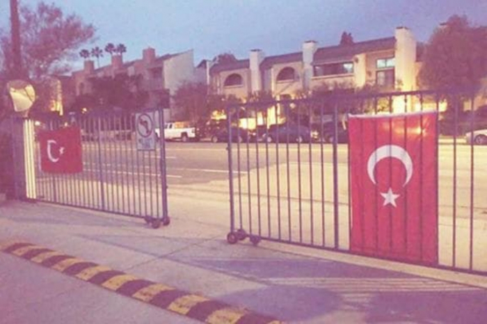Turkish flags hung at Armenian schools in US