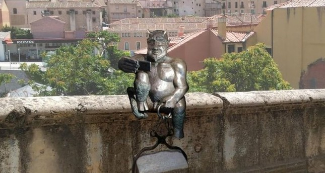 Spanish city protests devil sculpture, claiming it's 'too friendly'