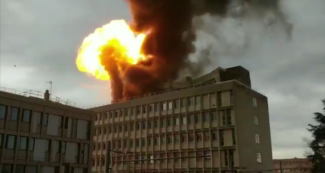 Huge explosion, fire rocks France