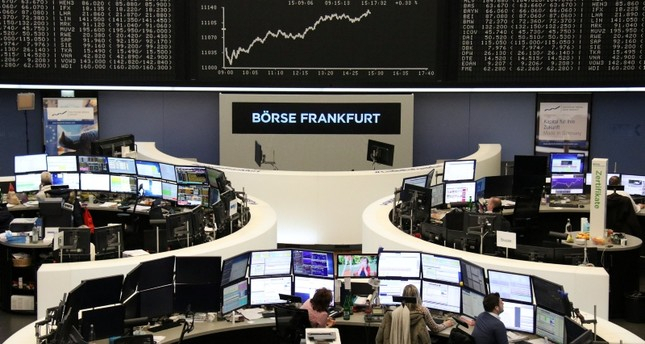European shares hit 2-month high led by tech rally