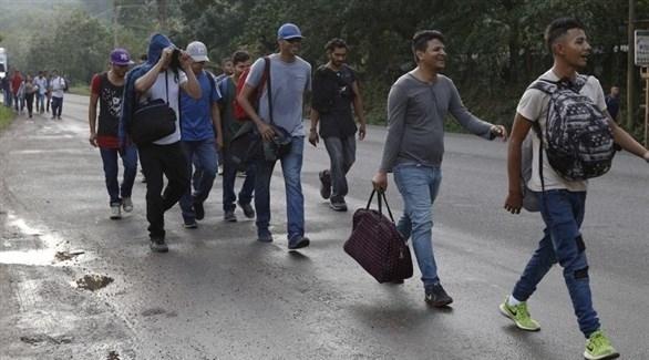 هندوراس: مجموعة مهاجرين تعبر حدود المكسيكية نحو أمريكا