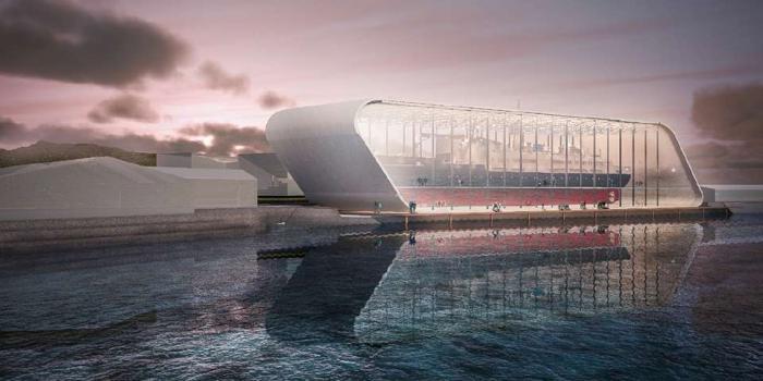En Norvège, un « bateau dans une bouteille » grandeur nature