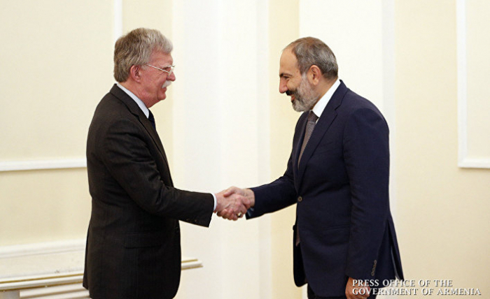 Pashinyan, Bolton discuss bilateral relations and regional situation