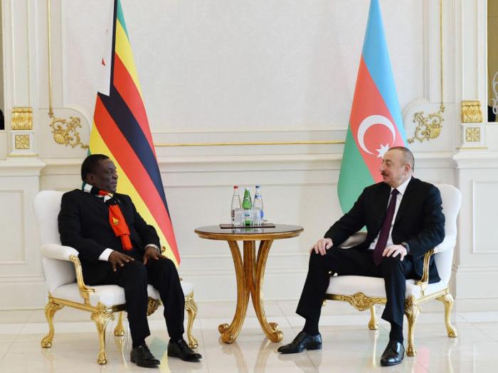 Presidentes de Azerbaiyán y Zimbabwe se reúnen en Bakú-  FOTOS