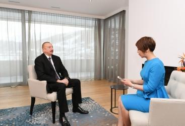 Davos: Entrevista del presidente Ilham Aliyev al canal de televisión chino CGTN