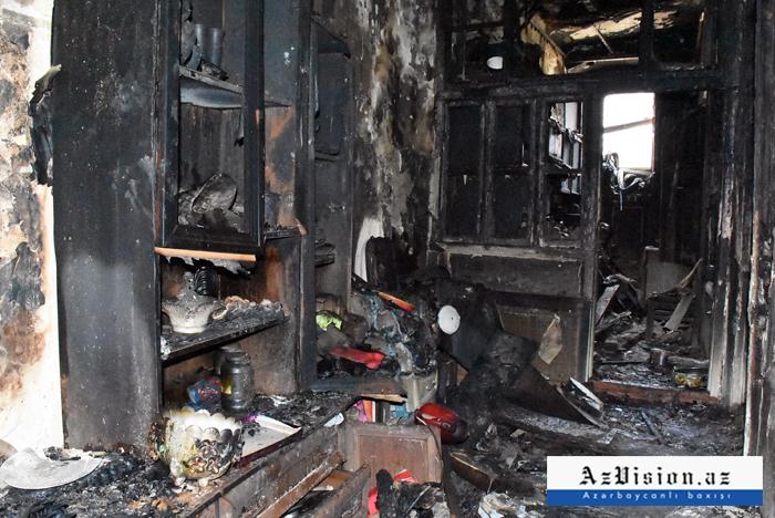 """""""Sovetski""""də ailə faciəsi: 3 nəfərin öldüyü partlayış yerindən FOTOLAR"""