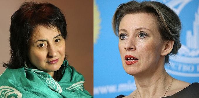 Azərbaycanlı jurnalist Mariya Zaxarovaya müraciət etdi