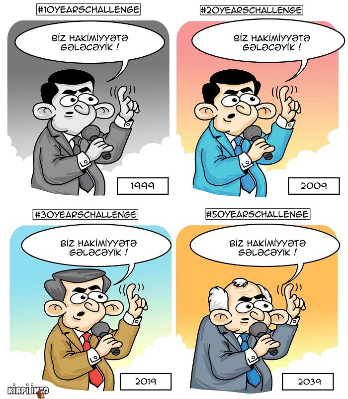 Əli Kərimli: #50yearschallenge - KARİKATURA