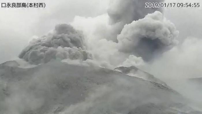 Japon:  éruption d