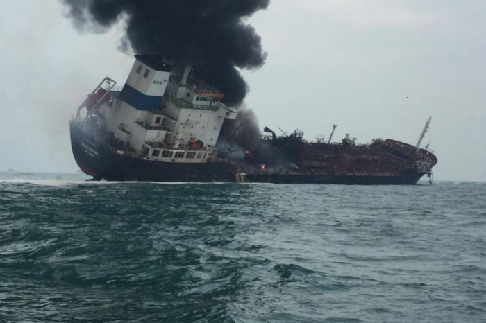 Oil tanker   fire in Hong Kong waters kills one  , rescue going on